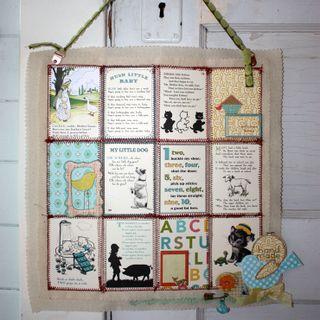 Nursery rhyme wall hanging